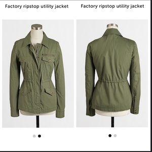 J. Crew Factory cami green Ripstop Utility Jacket